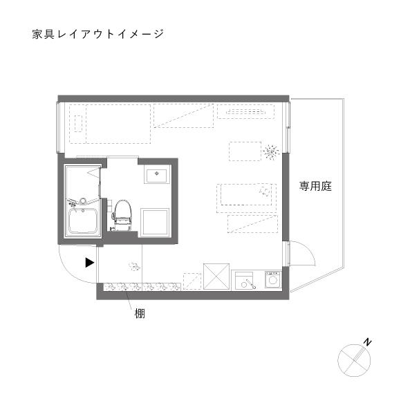 (仮称)MON_102_家具レイアウト