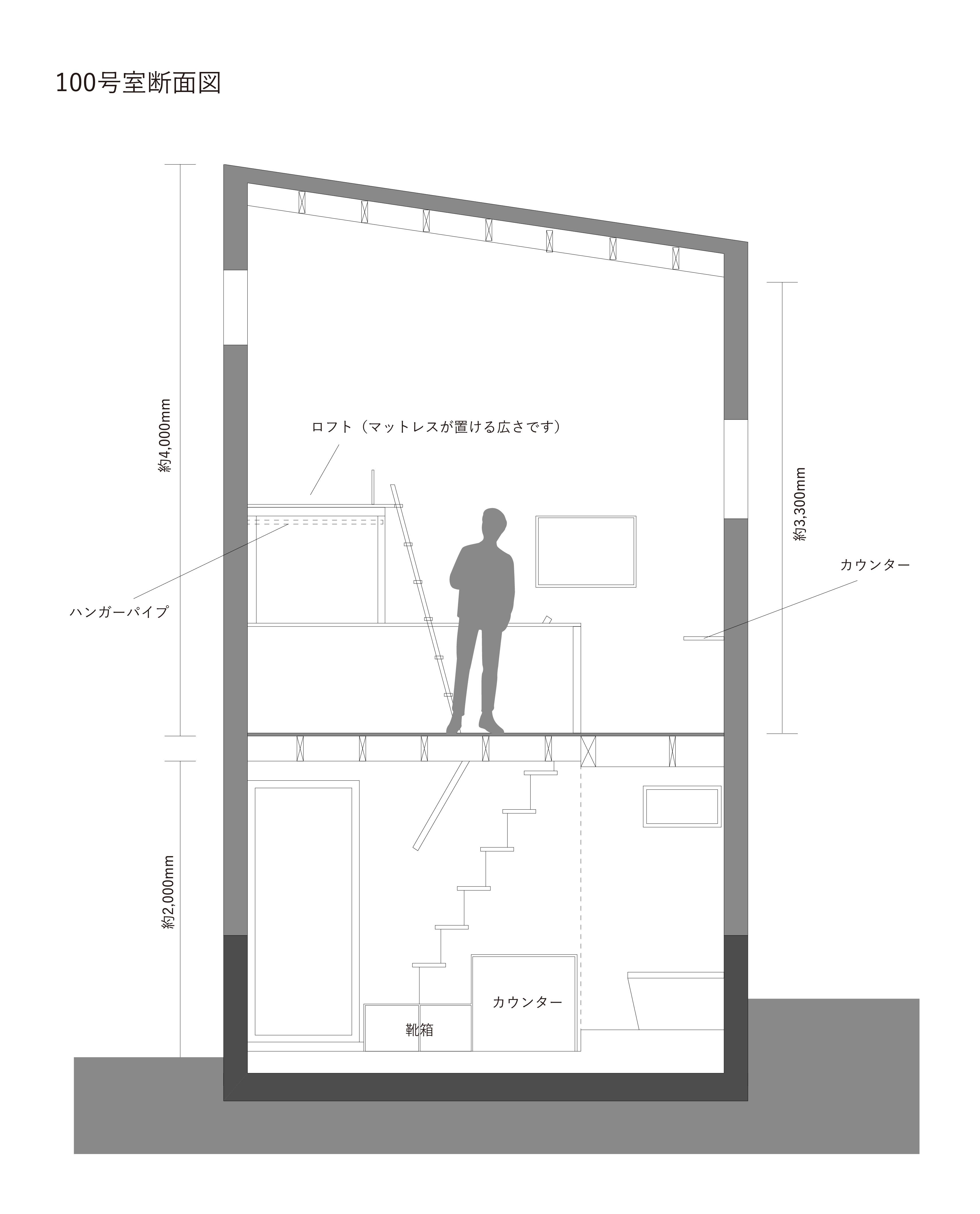 A号室断面図