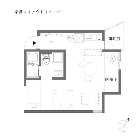 (仮称)MON_101_家具レイアウト