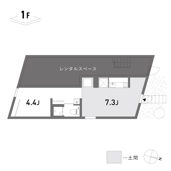 (仮称)根津の家_101+ギャラリー